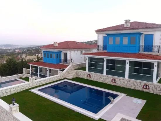 Detached Duplex Stone House For Sale In Ovacik, Cesme
