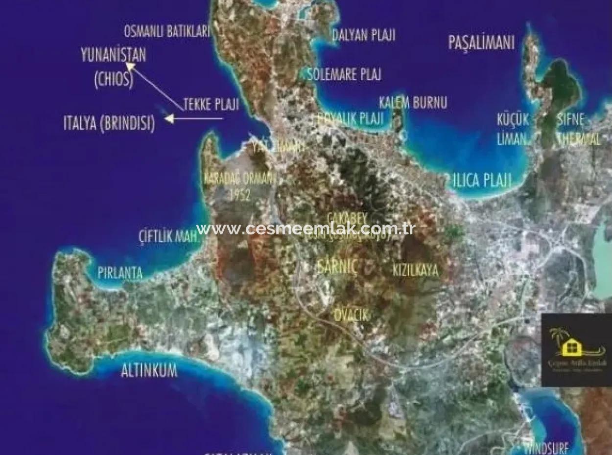 Alaçatı'Da Satılık Full Deniz Manzaralı Yatırımlık Arazi