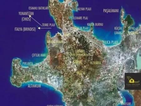 Çeşme Mamurbaba'Da 9 Dönüm Turizm+Ticari+Konut İmarlı Arsa