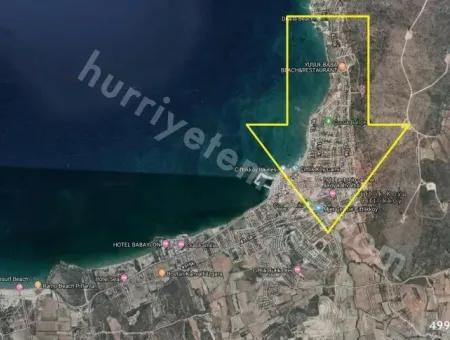 Çeşme'De Satılık 8 Villalık Deniz Görür Arsa